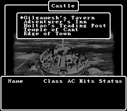 Wizardry V: Heart of the Maelstrom SNES In the castle