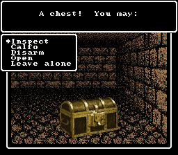 Wizardry V: Heart of the Maelstrom SNES Finding a chest after battle - better check it for traps