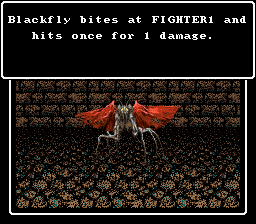 Wizardry V: Heart of the Maelstrom SNES Fighting a Blackfly
