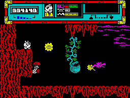 Starquake ZX Spectrum Exploring the planet