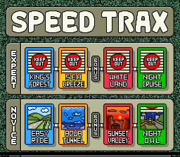 Stunt Race FX SNES Speed Trax - select your class