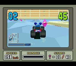 Stunt Race FX SNES One of the more difficult courses in Stunt Trax-mode