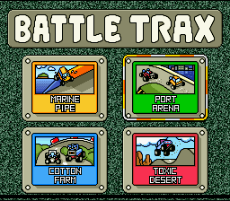 Stunt Race FX SNES Battle Trax - choosing a track for ...