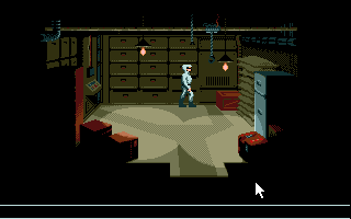 007: James Bond - The Stealth Affair Amiga Storage room.
