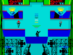 Smash T.V. ZX Spectrum Begin the game in the studio