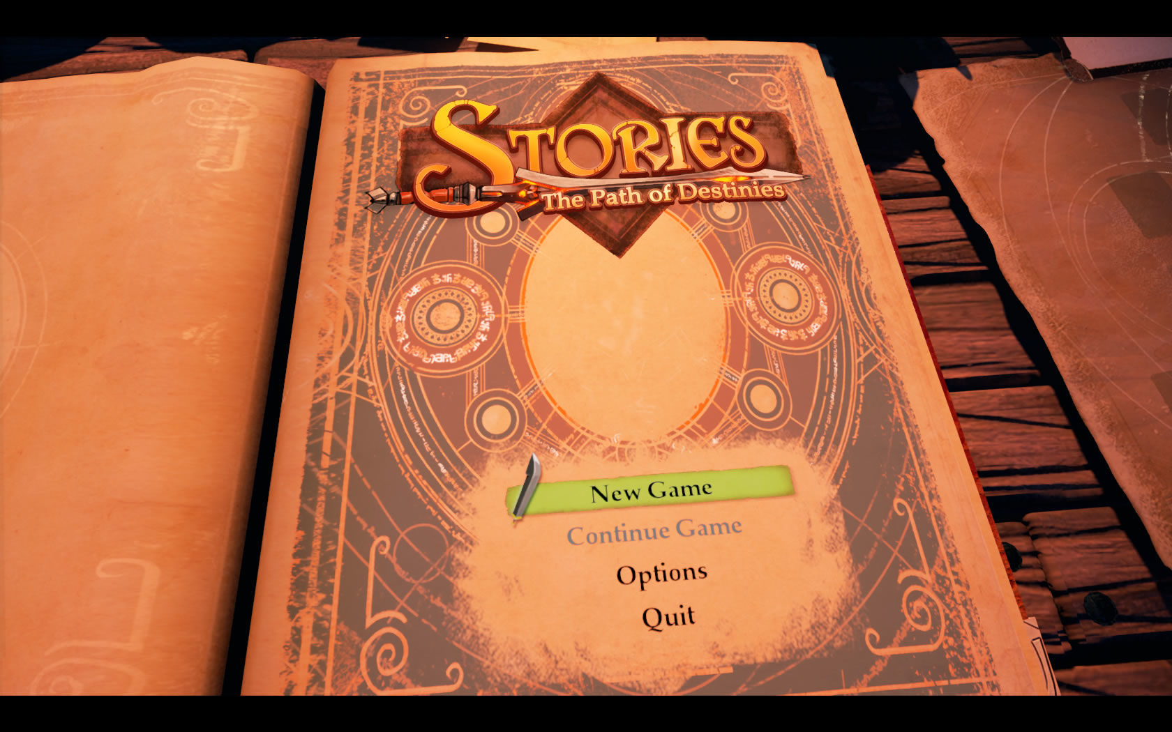 Stories: The Path of Destinies Windows Main menu
