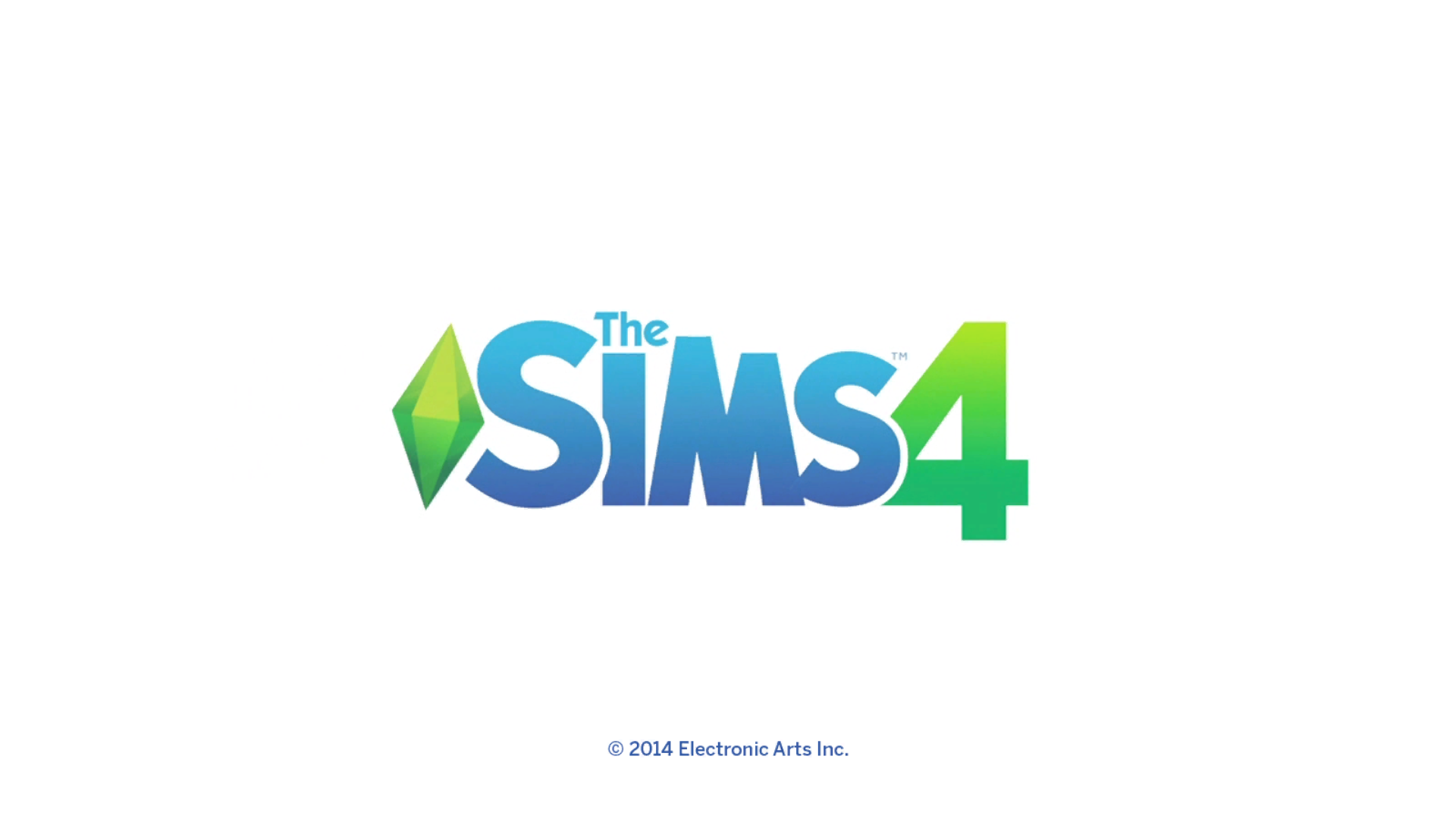 The Sims 4 Windows Title screen