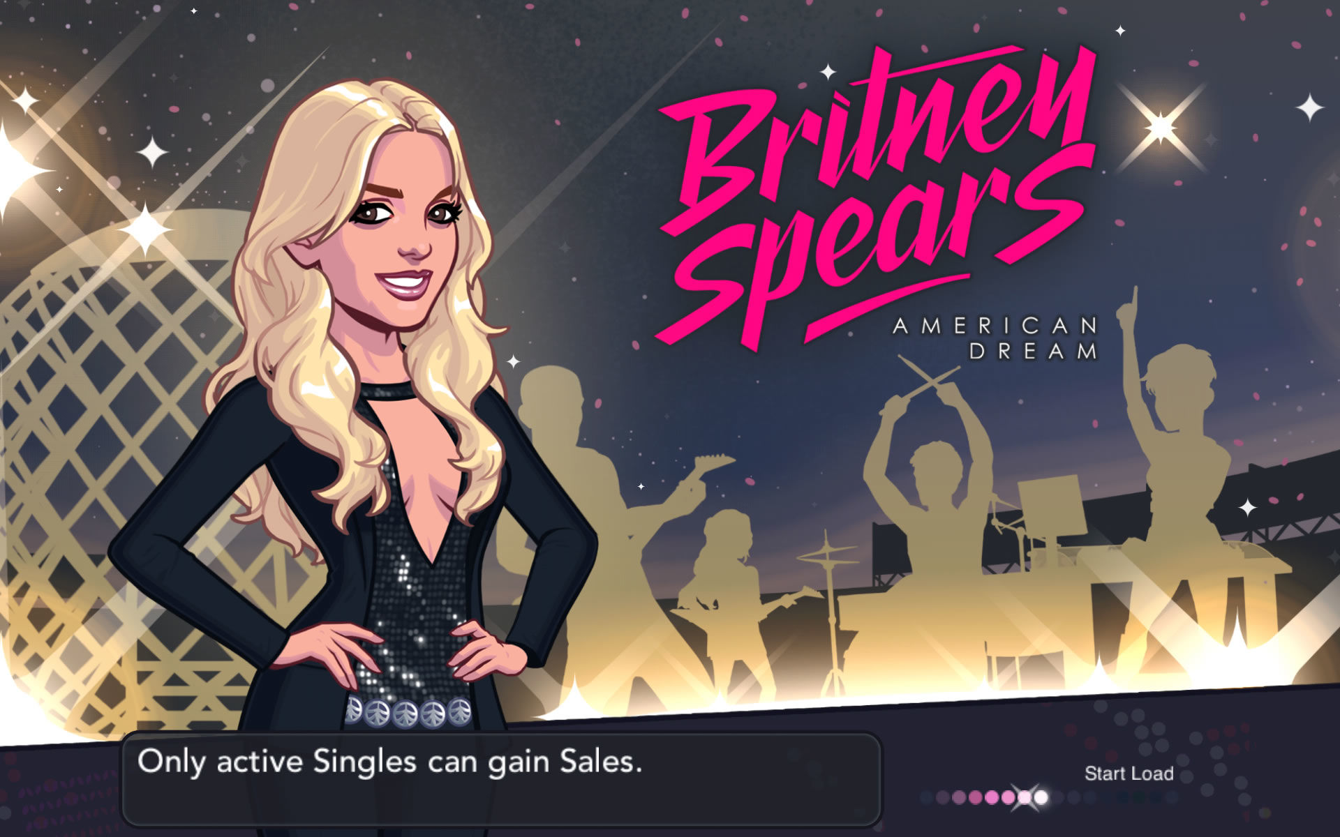 Britney Spears: American Dream Android Title / Loading screen