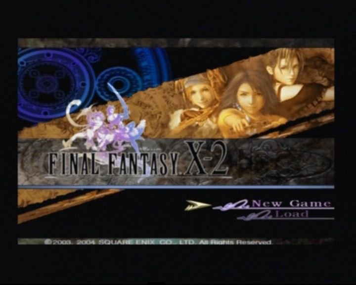 Final Fantasy X-2 PlayStation 2 Main Menu