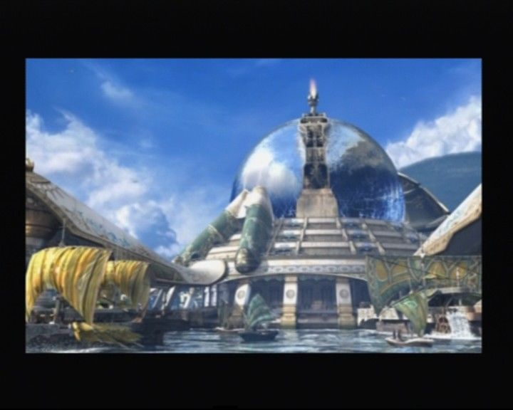 Final Fantasy X-2 PlayStation 2 Luca harbor from the opening cinematic