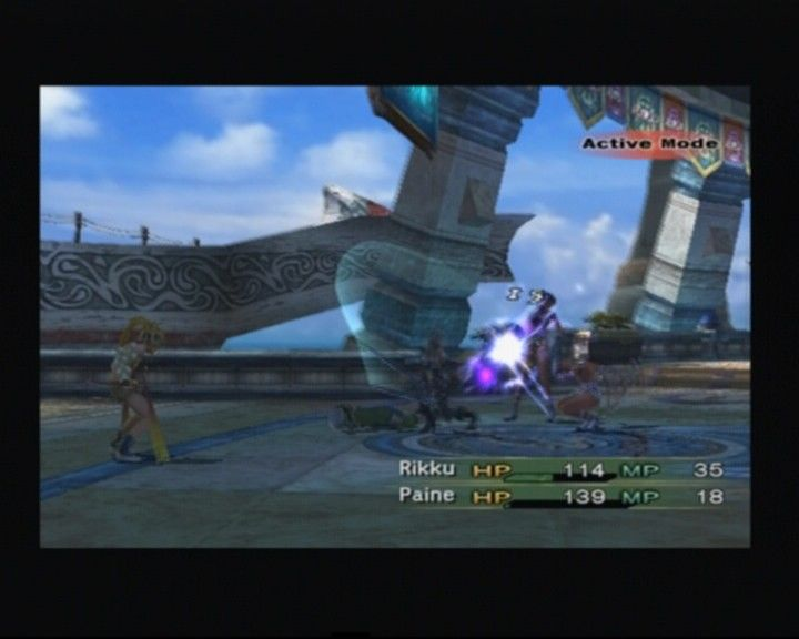 Final Fantasy X-2 PlayStation 2 Paine is easily handling small-time opposing force