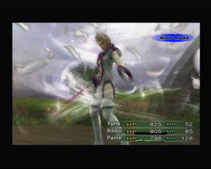 Final Fantasy X-2 PlayStation 2 Paine changing to a white mage