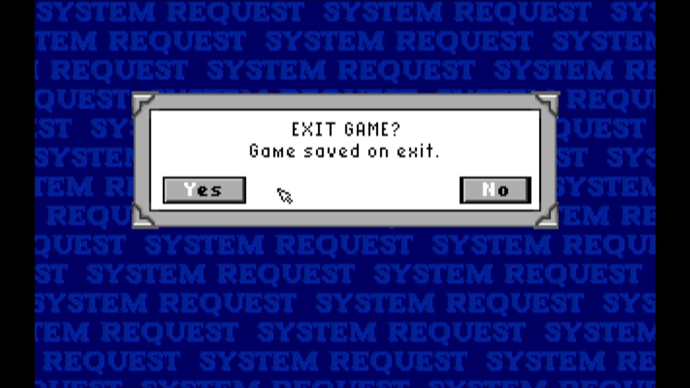 Wings Macintosh Saving your progress can only be done when exiting the game (GOG version)