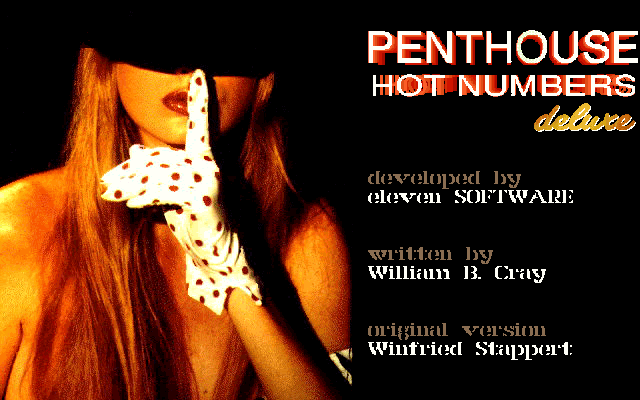 Penthouse Hot Numbers Deluxe DOS Title Screen