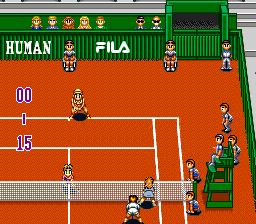 Super Final Match Tennis SNES Clay court.