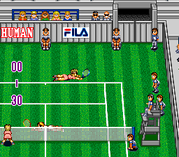 Super Final Match Tennis SNES Ugh.