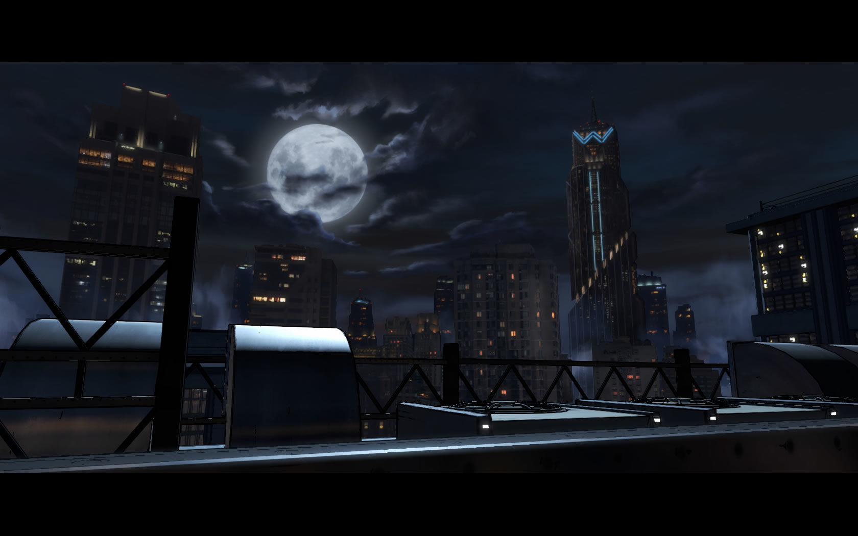 Batman: The Telltale Series - Episode 1: Realm of Shadows Windows The Wayne Enterprises building in the background