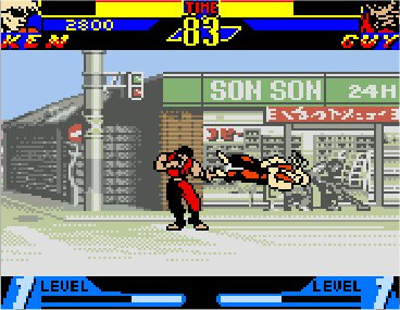 Street Fighter Alpha: Warriors' Dreams Game Boy Color Ken Vs Guy