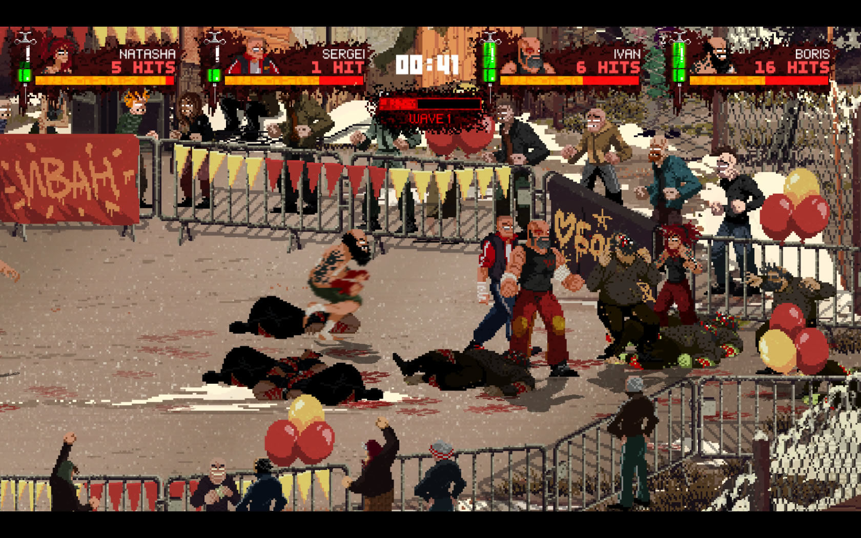 Mother Russia Bleeds Windows A four-player arena battle
