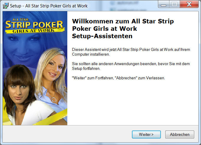 All Star Strip Poker: Girls at Work Windows Installation