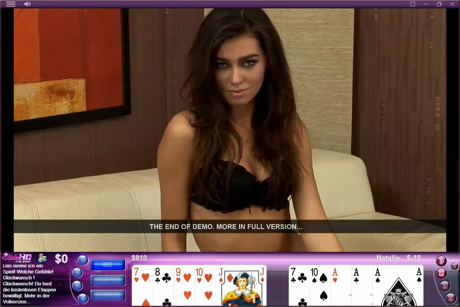 Video Strip Poker HD Windows End of demo (demo version)
