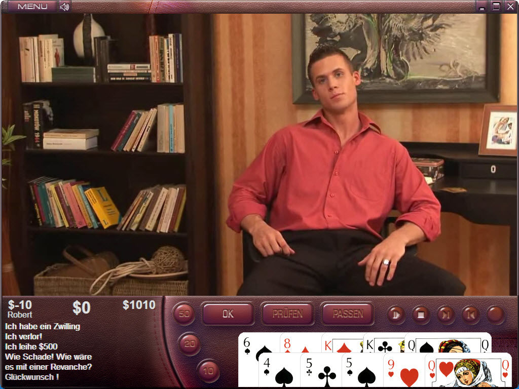Mmale strip poker