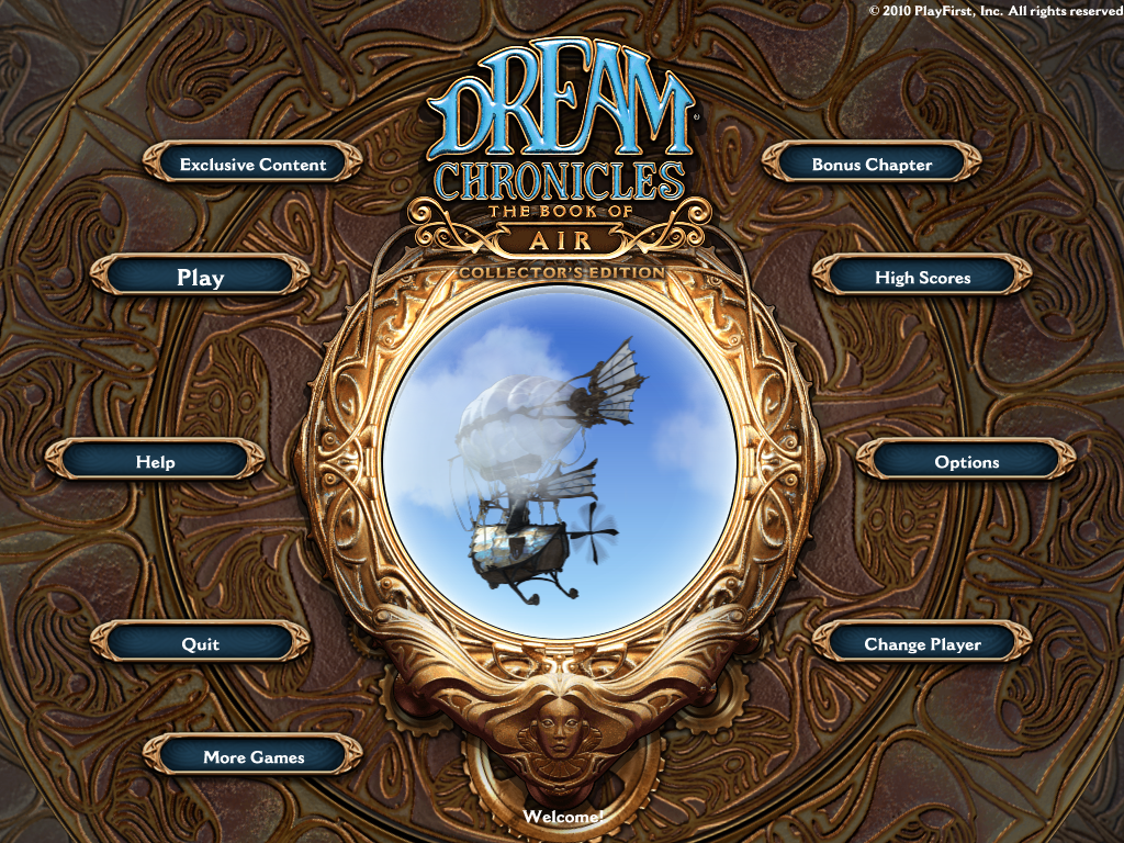 Dream Chronicles: The Book of Air (Collector's Edition) Windows Title screen