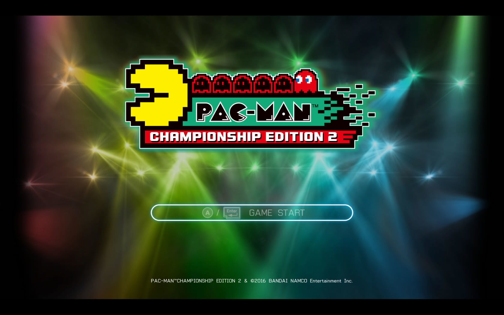 Pac-Man: Championship Edition 2 Windows Title screen