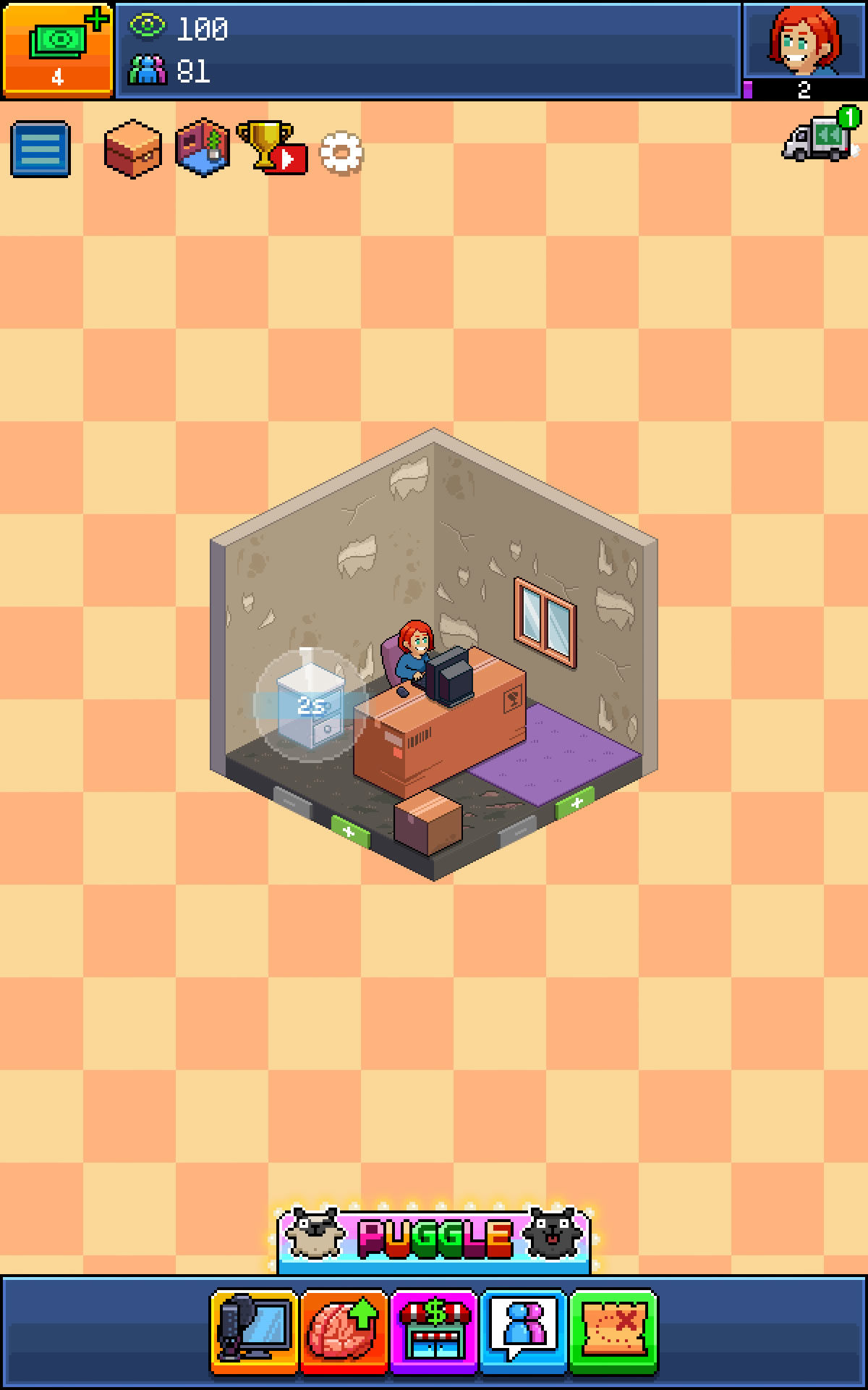 pewdiepie s tuber simulator screenshots for android mobygames