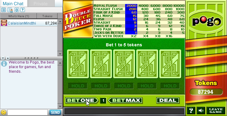 Double Deuce Poker Browser Is there a chance a decades-old browser card game could
