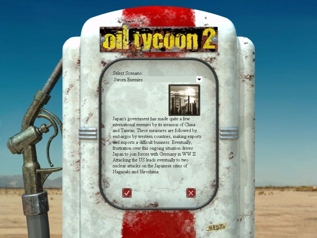 Big Oil Windows Each scenario has a bit of background information to place the game in the correct historical context