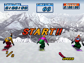 A1 Games: Snowboarding PS1 cover