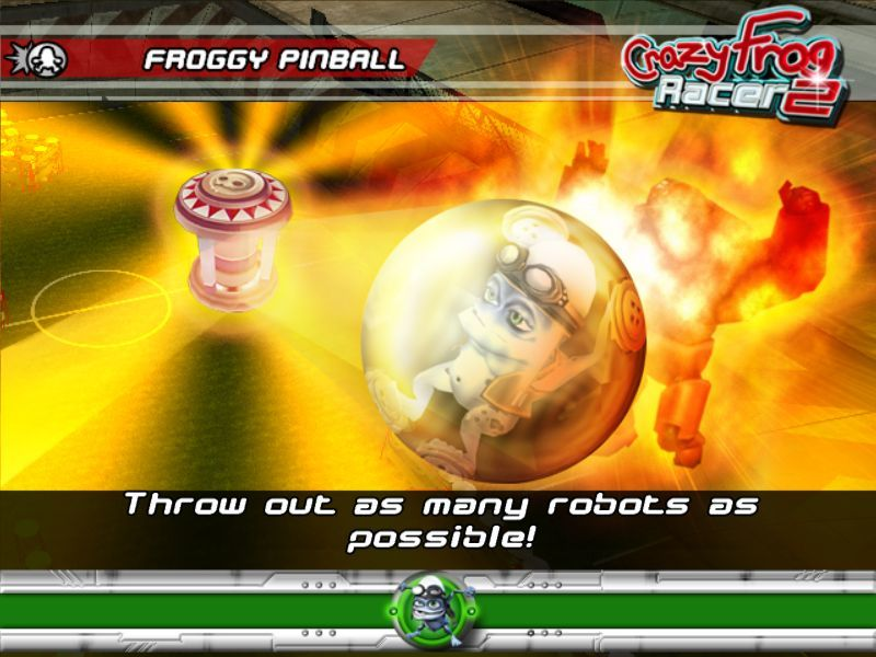 Crazy Frog Arcade Racer Windows The start of the Froggy Pinball mini game