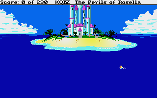 King's Quest IV: The Perils of Rosella Atari ST Genesta's castle is on that island.