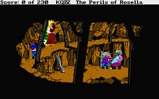 King's Quest IV: The Perils of Rosella Atari ST The dwarfs' mine,