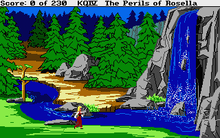 King's Quest IV: The Perils of Rosella Atari ST Waterfall.