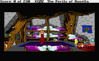 King's Quest IV: The Perils of Rosella Atari ST The dwarfs' bedroom sure is messy!