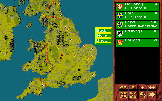 Kingmaker Amiga Main map