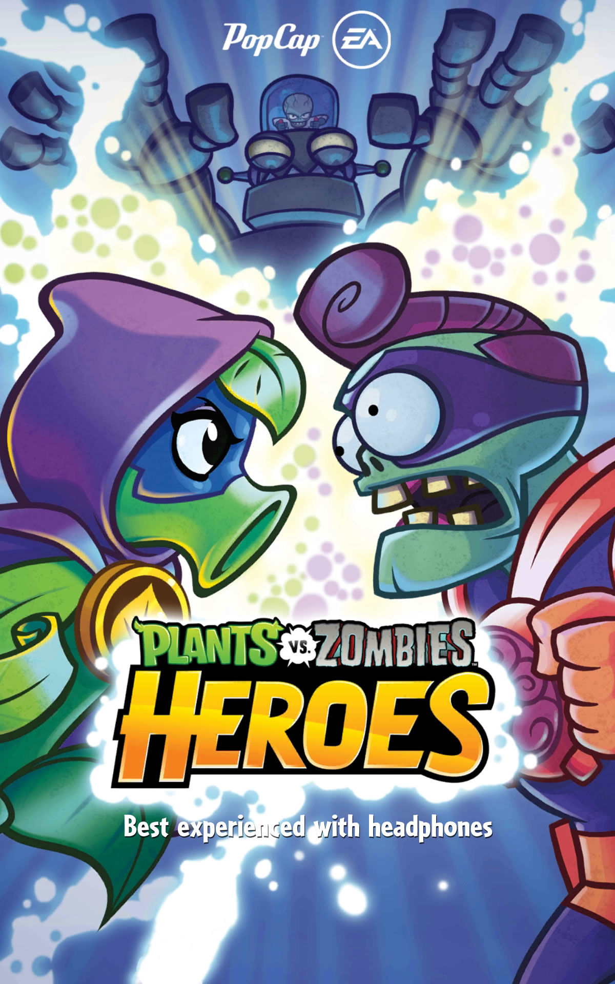 Plants vs. Zombies: Heroes Android Title screen