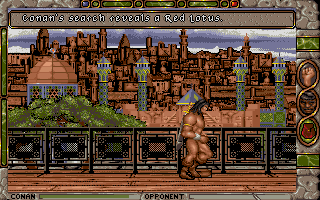 Conan: The Cimmerian DOS Much of the game takes place in the huge, splendid city of Shadizar.