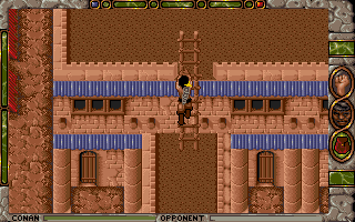 Conan: The Cimmerian DOS The streets are only one part of Shadizar. Conan also climbs on the rooftops...