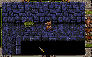 Conan: The Cimmerian DOS ...and stomps through the huge maze-like underground level.
