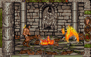 Conan: The Cimmerian DOS A skeleton king's spectacular demise in Conan's fire trap.