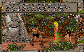 Conan: The Cimmerian DOS Boss battle: The blonde bombshell can get pretty nasty.
