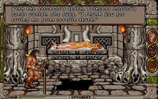 Conan: The Cimmerian DOS Conan at his best: Another fair maiden successfully rescued!