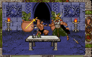 Conan: The Cimmerian DOS In the final adventure, Conan raids Thoth-Amon's fortress and battles his minions.
