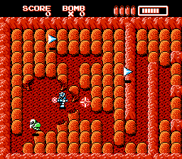RoboWarrior NES Rocks are no match for bombs