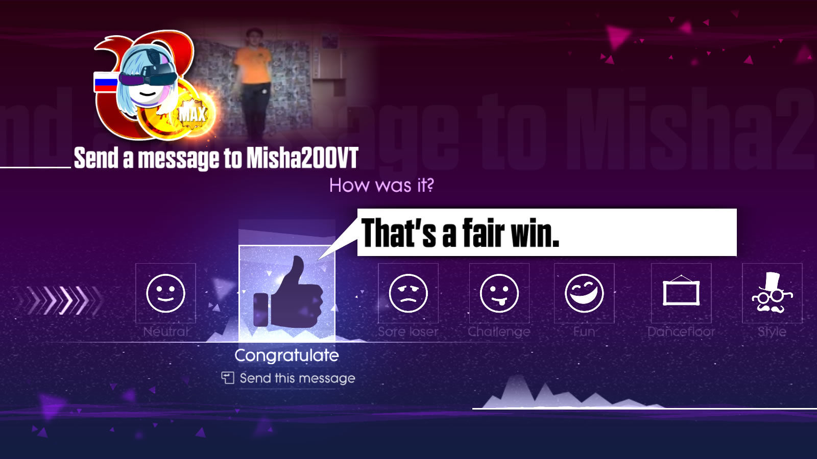 Just Dance 2017 Windows You can send basic feedback to other players.