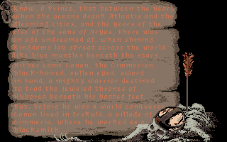 Conan: The Cimmerian DOS Introductory history