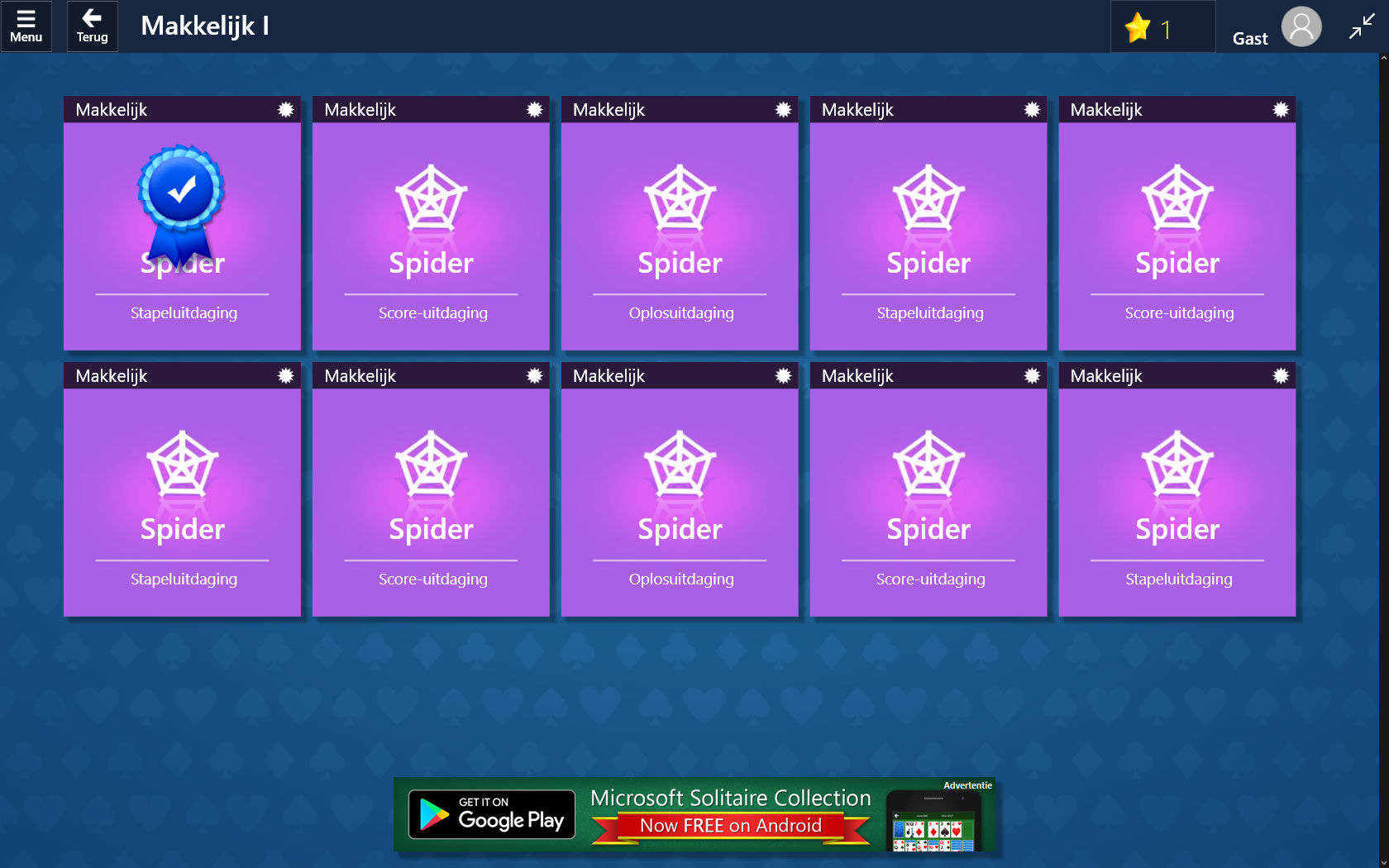 Microsoft Solitaire Collection Screenshots for Windows Apps